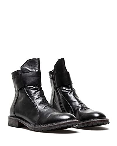 moma scarpe MOMA Scarpe Stivaletti Donna 1CW196 Vitello Nero Pelle