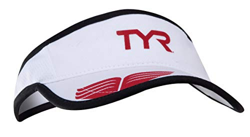 TYR Sport Visera para Correr, Blanco, Una Talla