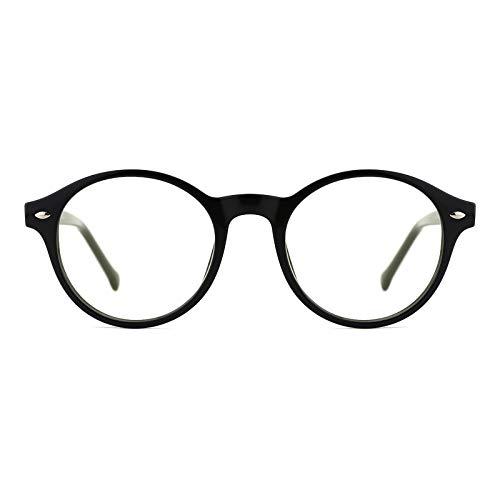 TIJN  Blue Light Blocking Glasses Clear Round Computer Eyeglasses Frame...