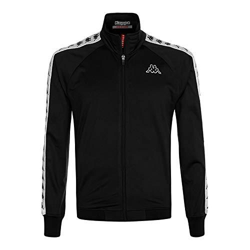 Kappa heren sweatshirt zwart 222 bandstrepen 301EFU0 slim fit