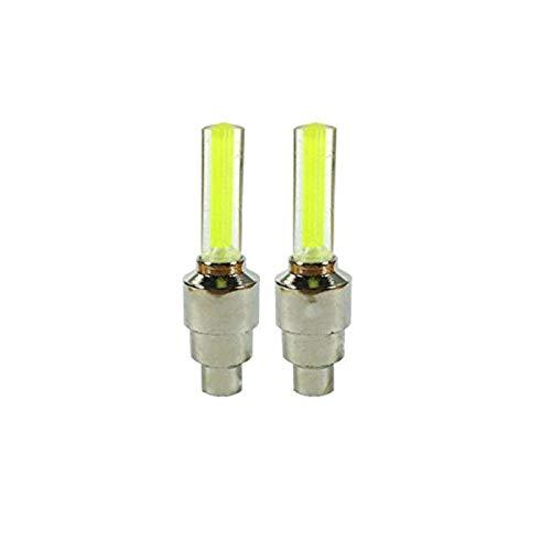 Simply Gorgeous 4 x Farb-LED- Neon- Auto -Rad -Ventil Staubkappe - Gelb