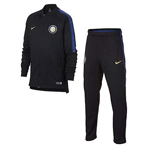 Nike Inter Knit J Trainingsanzug für Kinder L Nero/Nero/Game Royal/Truly Gold/No Sponsor/Plyr