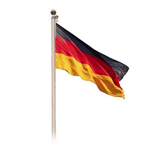 MP Home & Garden Aluminium Fahnenmast Deluxe 6,20 m inkl. Deutschlandflagge 150 x 90 cm