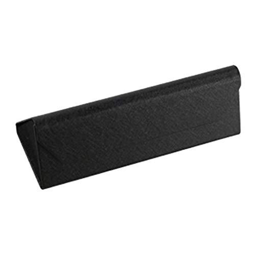 SDENSHI Triángulo Plegable De Viaje PU Gafas De Sol Caja Gafas De Sol Gafas Protector Funda - Negro, 16.1x5.7x5.3cm