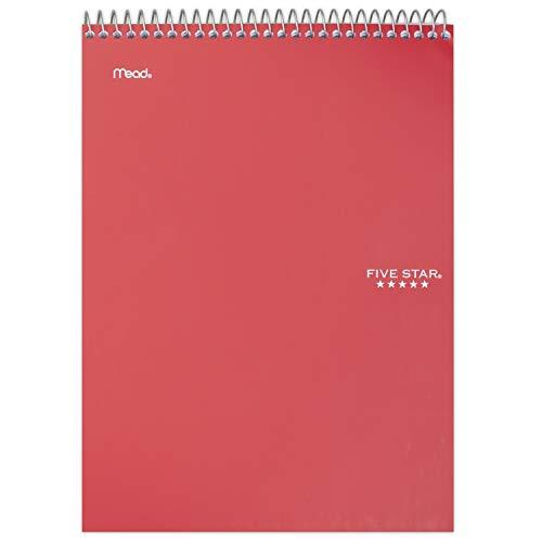 Five Star Notizbuch, 1 Fach, liniertes Papier, 100 Blatt, 27,9 x 21,6 cm, Farbe für Sie ausgewählt, 1 Stück (06182)