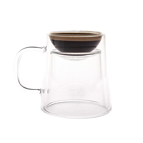 GAMAGO Double Shot Coffee/Espresso Mug, Clear