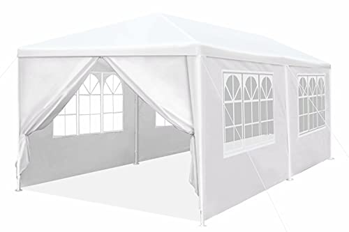 10'x20' Heavy Duty Canopy Gazebo Outdoor Party Wedding Tent Pavilion with 4 Removable Side Walls