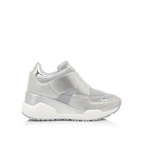 Mariamare 67614, Zapatillas para Mujer, Plateado (Lycra 2 Gris Claro/Linen Plata/Mirror Plata C49609), 36 EU