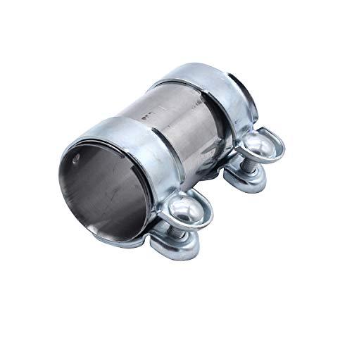 TAKPART Auspuffrohrklemme Auspuff Schelle Rohrverbinder Doppelschelle Ø 65 mm x 125 mm 18101745427