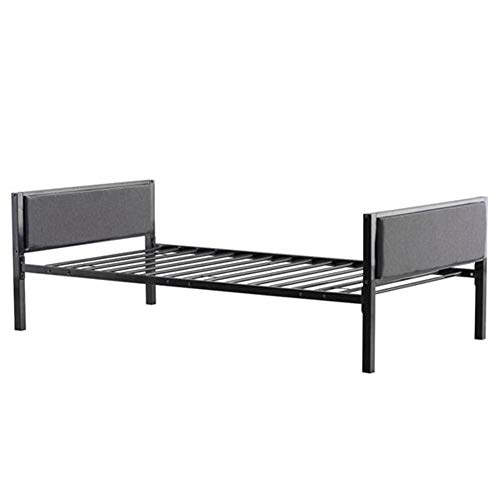 Shamdon Home Collection Simple Dark Gray Soft Cover Daybed,No Box Spring Needed,Easy Assembly,Black Twin