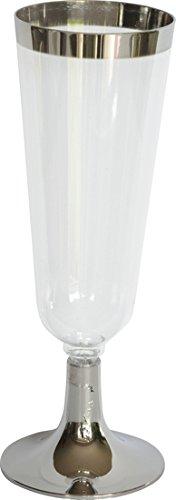 Duni Lot de 12 verres à champagne transparent/argenté 15 cl