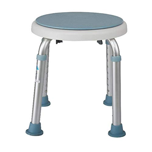 ZXY-NAN Bathroom Wheelchairs Bath Stools Bathroom Stools Bathroom Elderly Swivel Round Bathing Shower Stool Seat Height Adjustable Aluminum Alloy Household Toilet Pregnant Women Disabled Anti-slip Sho