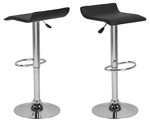 AC Design Furniture Taburete de Bar Dan 25426 Negro, 38 x 39 x 86 cm