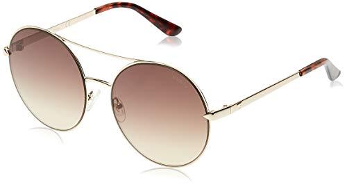 Guess GU7559 32G 60 Monturas de gafas, Dorado (OroMarrone Specchiato), 60.0 Unisex Adulto