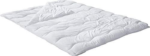 REDBEST Vier-Jahreszeiten-Bett, Steppbett, Bettdecke Textilfaser weiß Größe 135x200 cm - Feuchtigkeitsabtransport, Liegekomfort, waschbar, ergonomische Wellensteppung