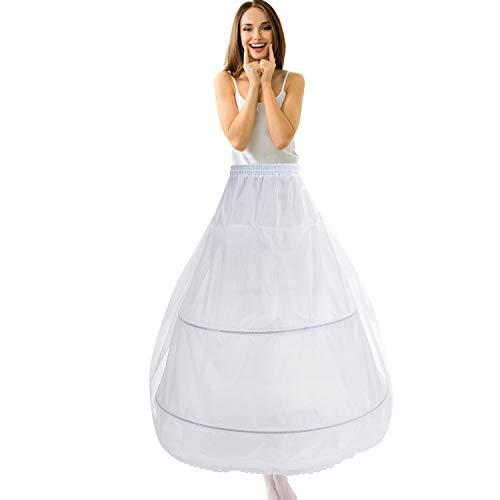 Reifrock bruidsjurk Petticoat onderrok, tule Reifrock A lijn 2 ring verstelbaar crinoline dames/meisjes lang Underskirt voor bruiloftsjurken baljurken avondjurken bruidsjurken Promjurken