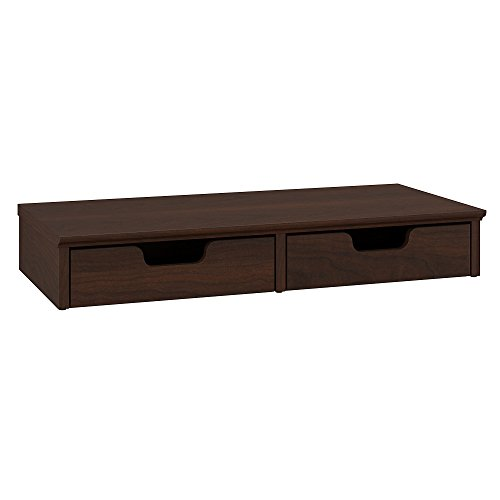 Bush Furniture Key West Desktop Organizer with Drawers in Bing Cherry