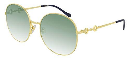 Gucci Gafas de Sol GG0881SA Gold/Gren Shaded 59/19/145 mujer