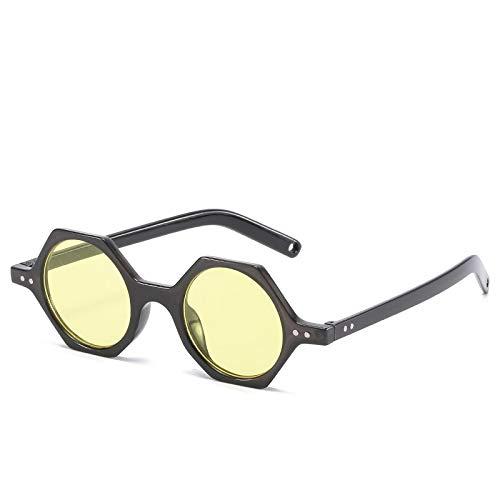 Gafas de Sol Sunglasses Gafas De Sol Poligonales De Gran Tamaño para Mujer, Gafas De Viaje Hexagonales Vintage, Gafas De Sol De Moda para Mujer con Montura Cuadrada, Gafa