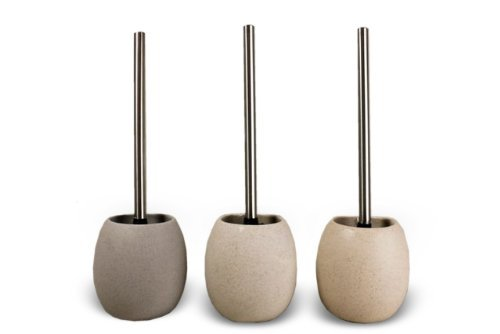 SAND Stone Effect Toilet Brush & Holder by The Contemporary Living Company