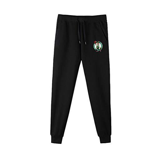 JNTM Deportes para Hombre Pantalones NBA Atletismo Baloncesto De Formación Pantalón Ocasionales Cómodos Logo Pantalones Flojos del Equipo para La Juventud Boston Celtics-L