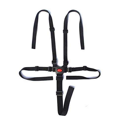 Cintura di sicurezza per bambini a 5 punti, con fibbia universale regolabile e cinghia di protezione per passeggino, seggiolone, carrozzina, passeggino