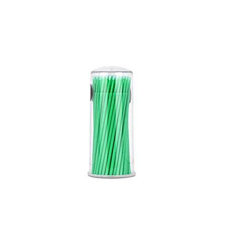 Doyeemei coton jetable mascara écouvillon brosse d'extension de cils coton doux écouvillon microbrosse outil de nettoyage des cils 100 pièces applicateur M
