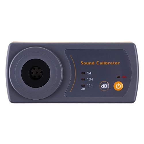 Funzione di registrazione dei dati Livello sonoro Decibel Meter con Display Retroilluminazione Alta Precisione Misura 30dB ~ 130dB Strumento Compatto Professionale (Calibratore del Livello Suono)