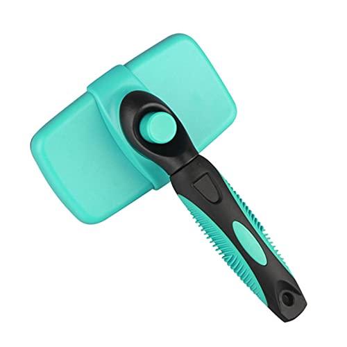 JWDS Cepillo para mascotas de limpieza automática cepillo para perros y gatos elimina la capa inferior enredado Masajes de pelo peine de mascotas mejora el pelo del perro