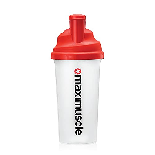 Maximuscle | Original Screw Cap On The Go Protein Shaker for Working Out | Pro-Athletes Reusable Bottle with Easy-Pour Opening - 700ml