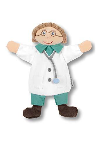 Sterntaler Kinder-Handpuppe Arzt, Ideal für Puppentheater und Rollenspiele, 23 x 21 x 7 cm, Mehrfarbig