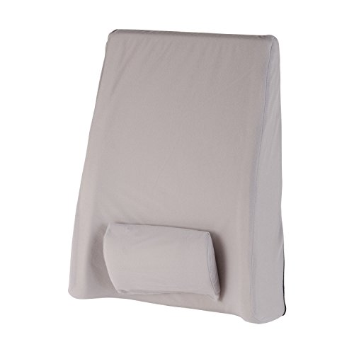 DMI Deluxe Extra-Tall Adjustable Lumbar Back Support Cushion with Elastic Strap and Removable Adjustable Lumbar Pad, 14 x 21 Inches, Gray