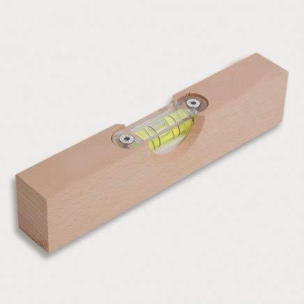HOFMEISTER® Mini-Wasserwaage, 15 cm, für Bilder, Möbel & Fußböden, Richtwaage mit Libelle, kleine Maurerwaage für Privat und Handwerk, 100% Made in Germany, aus Eschen-Holz