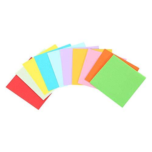 Papel Origami de Doble cara Color, Origami Papel Plegable 520 Hojas, Papel Cuadrado de Origami de 10 Colores Vivos para Manualidades, 7x7 cm, Mismo Color en Ambos Lados