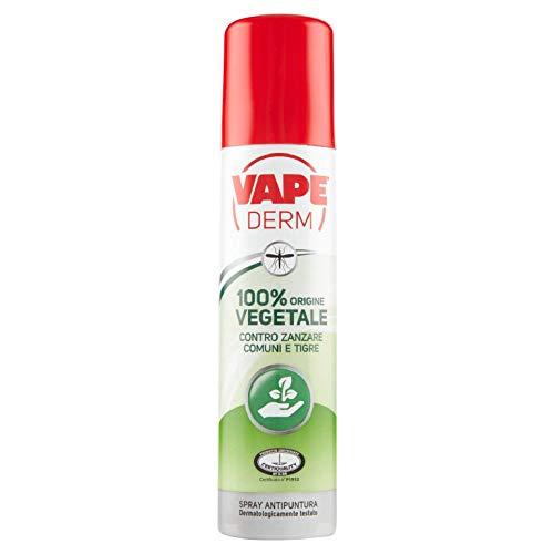Vape Derm 100% Vegetale Repellente Zanzare, Protezione Naturale Adulti E Bambini, 75 unità