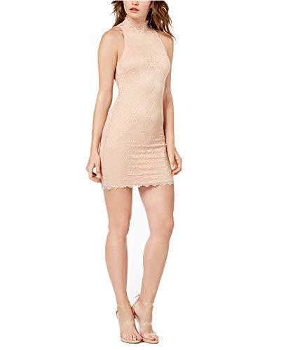 GUESS Women's Vanessa Lace Boycon Dress (Pink Champagine, X-Large)