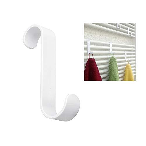 my basics handdoekhaak voor radiator, kunststof, 11 cm, wit (2 x 2-pack)