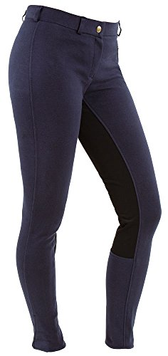 Covalliero Damen Economic Reithose, Blau, 38,