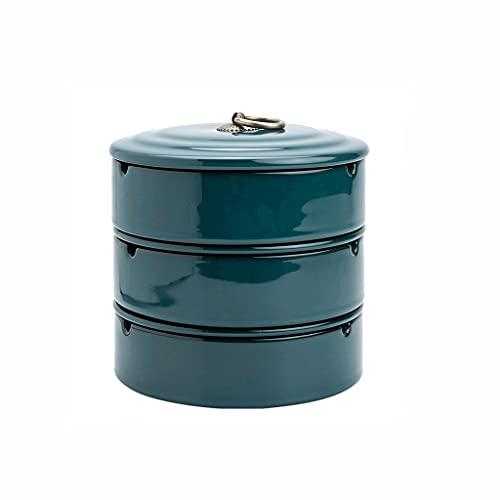 DIWA Conjunto de ceniceros de Tres Capas, Titular de Ceniza de cerámica Retro Desmontable, para el hogar/Oficina/decoración/Regalos de Alta Gama (Color : Green)