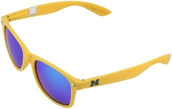إطار ذهبي MICH-2 من NCAA Michigan Wolverines، نظارات شمسية بعدسات زرقاء، مقاس واحد، ذهبي