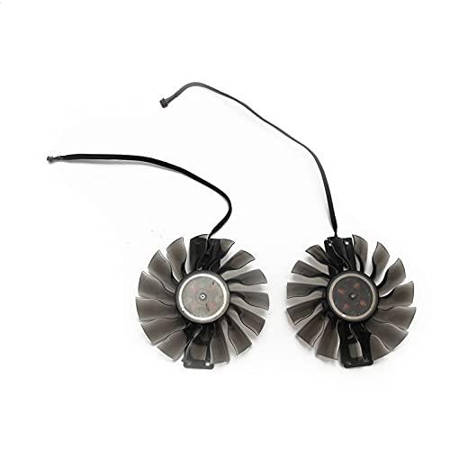Jinyouqin Für Palit für GeForce RTX 2080 Ti GamingPro OC RTX 2080TI Dual Graphics Grafikkartenkühlung Lüfter GA91S2U DC12V 0.40A