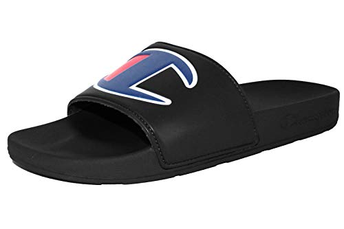 Champion Boys GS Ipo Repeat Script Logo All Over Print Pool Slide Sandal-Black Black_4