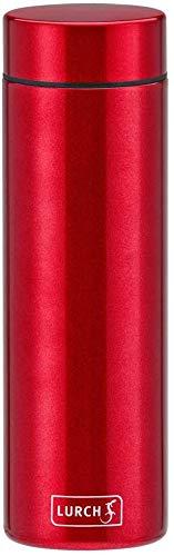 Lurch 240953 Lipstick Thermoflasche aus doppelwandigem Edelstahl 0,3 l Cherry Red