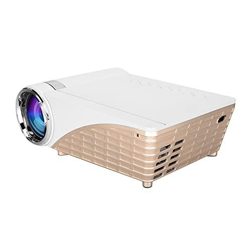 ciciglow Proyector WiFi, 1080P Proyector de Video portátil para teléfono móvil con Altavoz Incorporado Interfaces de Video AV/USB/VGA/HDMI para computadoras portátiles (100-240 V (Enchufe de la UE))