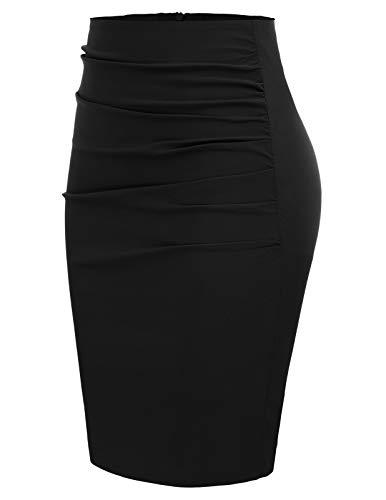 GRACE KARIN Mujer Falda de Tubo Cintura Alta por la Rodilla Casual Delgado Elegente Tamaño M CL866-1
