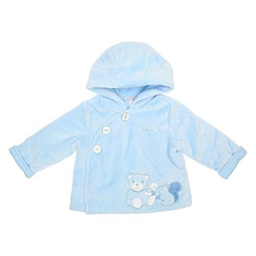 THUN - Blouson bleu avec Teddy pour bébé - Vêtement bébé - Ligne Baby Thun & OVS - Doublure 100 % coton - 1-3 mois, 56 cm