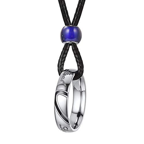 PROSTEEL Collar de pareja para hombre, anillos de orgullo tamaño T1/2 Gay Rainbow Jewelry