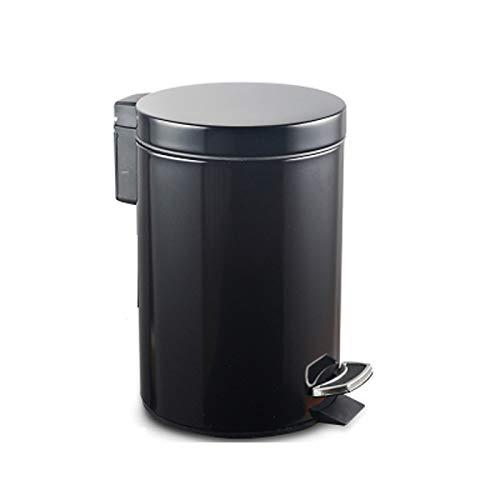 Khmyi vuilnisemmer keuken met deksel afvalemmer roestvrij staal pedaal type deodorant badkamer toilet woonkamer afvalcontainer