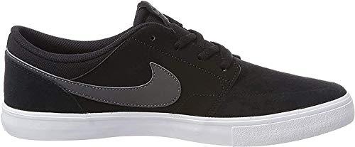 Nike SB Portmore II Solar, Zapatillas de Skateboard Unisex Adulto, Negro (Black/Dk Grey/White 001), 43 EU