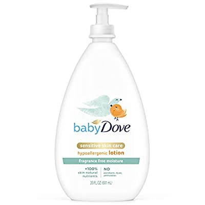 Baby Dove Face and Body Lotion for Sensitive Skin Sensitive Moisture Fragrance-Free Baby Lotion 20 oz from Unilever